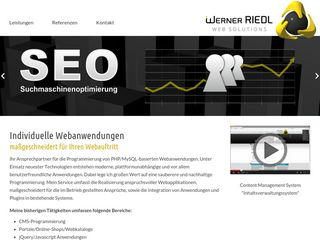 Werner Riedl | Web Solutions