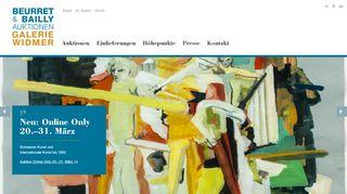 Beurret Bailly Widmer Auktionen AG - Schweizer Kunst