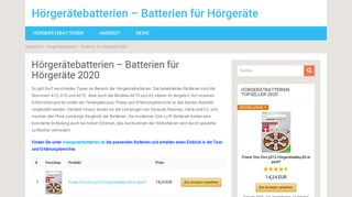 Hörgeräte Batterien Tests