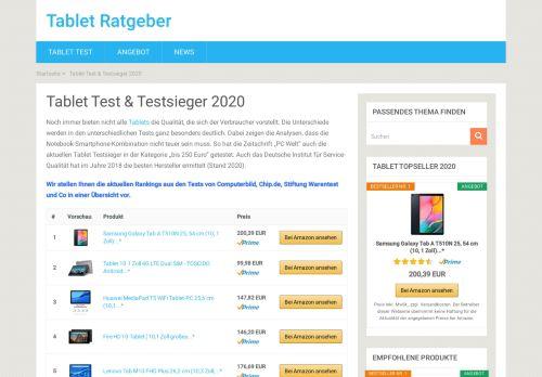 Tablet Ratgeber – Alle Testsieger 2020 auf einen Blick