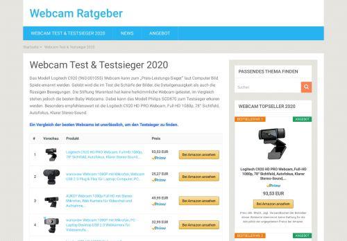 Webcam Testsieger