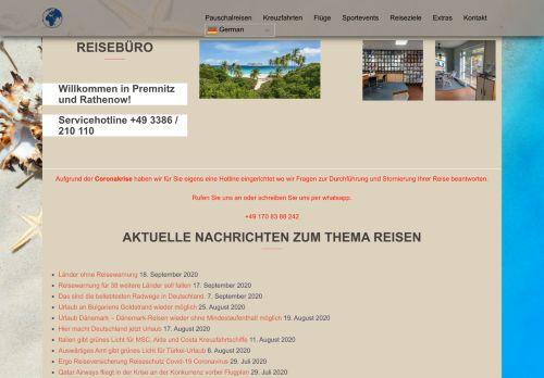 Reisebüro Premnitz Rathenow ☀️ Brandenburg ✅ seit 1998