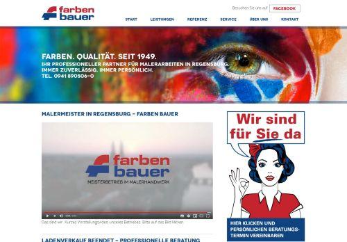 Farben Bauer - Malermeister Betrieb in Regensburg