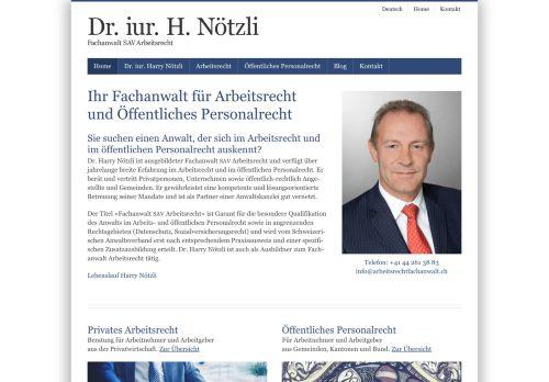 Dr. iur. Harry Nötzli - Anwalt für Arbeitsrecht in Zürich