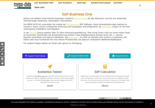MEPA-DATA AG SAP Software