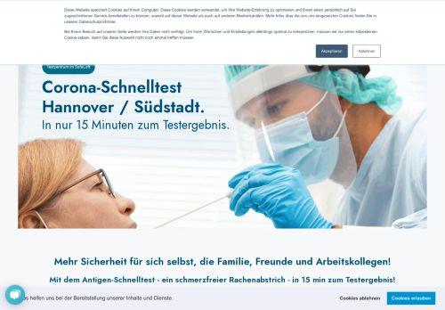 Das Testzentrum Hannover: Schnelltest für Corona / COVID Infektionen