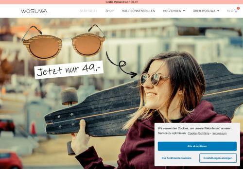 Einzigartige Holzuhren und Holz Sonnenbrillen - WOSUWA