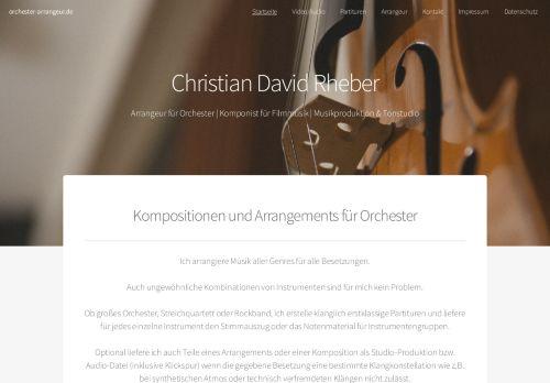 Arrangements für Orchester und Filmmusik
