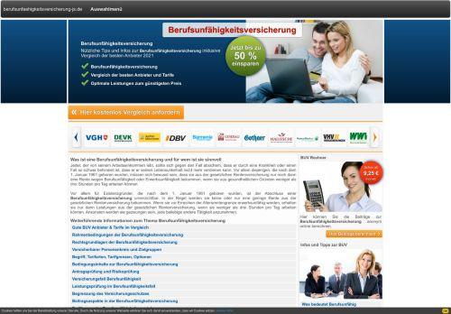 Unabhängiger Berufsunfähigkeitsversicherung Vergleich