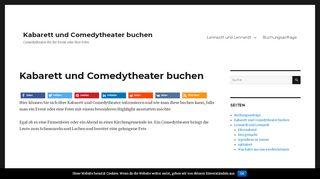 Kabarett und Comedytheater buchen