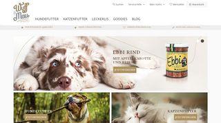 Wuff & Mau - Bio Katzen- und Hundefutter