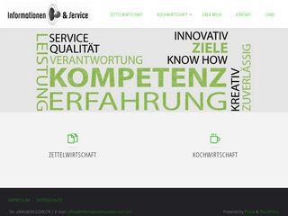 Informationen und Service / Kochwirtschaft