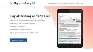 Plagiatsprüfung.de - Plagiatsprüfung in 10 Minuten